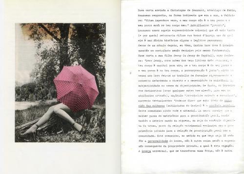 Carta de José Barrias enviada a Julião Sarmento, Novembro 1978. Folha 3 e 4 de 6. Agradeço a José Barrias e a Julião Sarmento pela autorização para tornar esta carta de conhecimento público.
